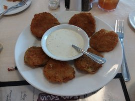 Fried Green Tomatoes...it's a vegetable...