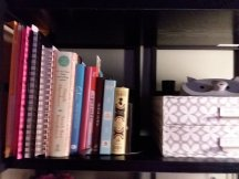 Shelf above my desk...
