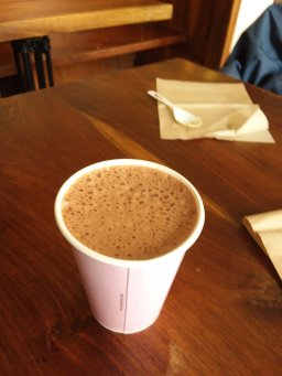 And because my daughter was in town...hot chocolate at Van Leuwen