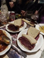 My niece had never hss deli before...so these are pastrami and corned beef sandwiches from Second Ave. Deli
