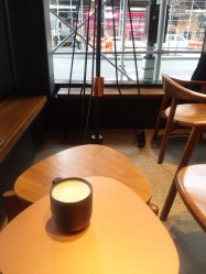 Chai latte at Starbucks reserve...this is the way to experience starbucks