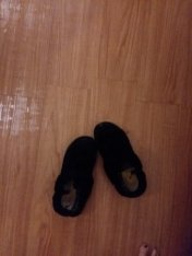 house slippers that are so well sorn there's a hole in the toe