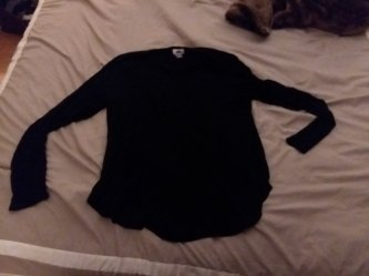 Long sleeve black t shirt for when it gets chilly